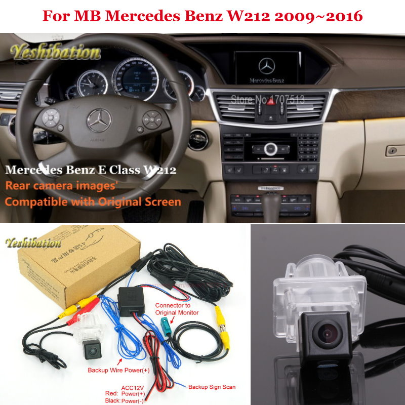 Yeshibation Car Rear View Reverse Camera Sets For For MB Mercedes Benz W212 2009~2016 RCA & Original Screen Compatible