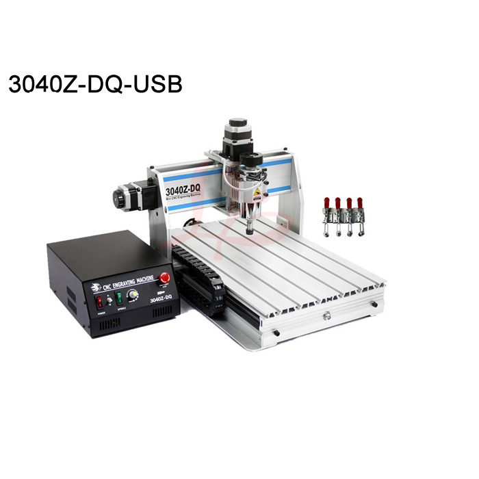 Desktop cnc machine 3040ZQ wood engraving router work area 285*380*55mm with ball screw USB port mach3 control cnc router wood milling machine cnc 3040z vfd800w 3axis usb for wood working with ball screw