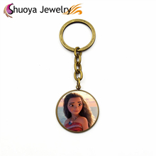 Moana Key Chains S&Y Hot Sale New 2017 Fashion Gold Silver Copper Glass Key Chains Moana Key Chains  Accessories