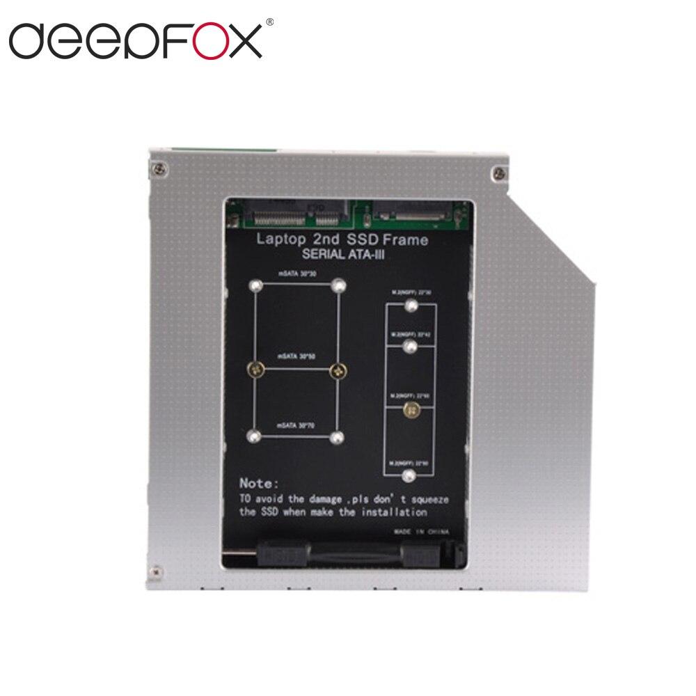 12,7mm Aluminium HDD Case Universal SATA 3 UNGERADE NGFF M.2 mSATA SSD...