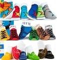 Мужская Baby Дети Малышей Девочка Мальчик Противоскользящие Носки Впервые Прогулки носки Детские носки Лодки Обувь Тапочки YFF.