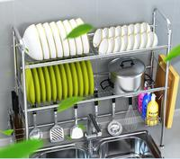 Stainless steel bowl rack. Kitchen rack for water sink..