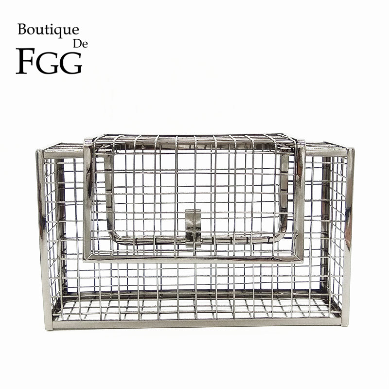 Boutique De FGG Gunmetal Plated Metal Case Women Day Clutches Fashion Evening Clutch Purse Chain Shoulder Handbag Crossbody Bag footpegs aluminum chrome passenger rear footrest pedals left and right front pedals steps for harley 883 1200 sporster 2004 2013
