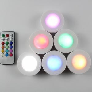 HobbyLane 3Pcs 13Colors Change Touch Remote Control RGB Pat Lamps Night Lights for Christmas Halloween Bar Decor