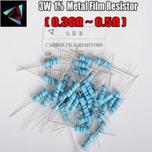 10PCS 3W Metal Film Resistor +-1% 3W 0.36 0.39 0.43 0.47 0.5 ohm
