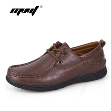 Купить с кэшбэком Genuine Leather Men Casual Shoes Luxury Flats Fashion Designer Breathable Outdoor Men Shoes Sneakers Male Footwear Dropshipping