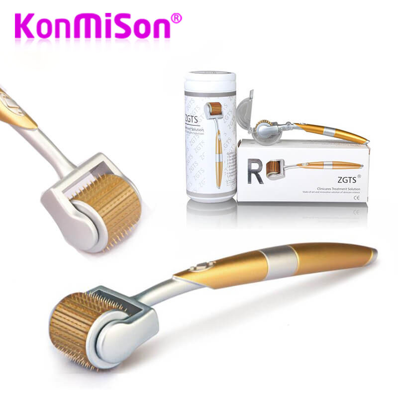 Professional Titanium ZGTS Derma Roller 192 Needles For Face Care Hair-loss Treatment CE Certificate Proved Micro Needles(China)