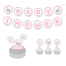 Girl Pink Elephant Baby Shower Birthday Party Decorations Kids Supplies