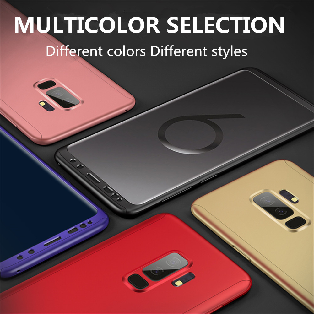 360 Degree Protection Case For Samsung Galaxy Note 3 4 5 Hard Cases For Galaxy A3 A5 <font><b>A7</b></font> 2017 A8 A8+ A6 A710 With Tempered Glass