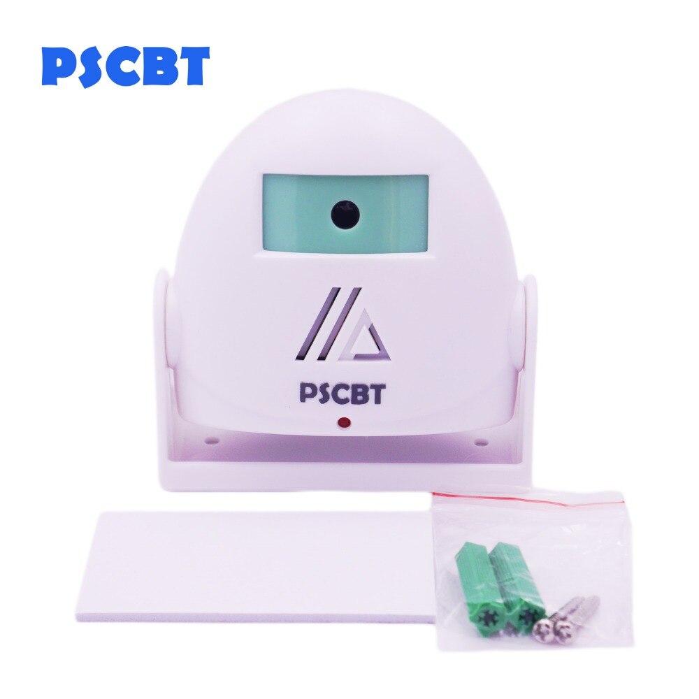PSCBT Hello Welcome Doorbell Entry Alarm Door Sensor Wireless Shop Door Bell 16 Melodies Dingdong Sound For Shop House
