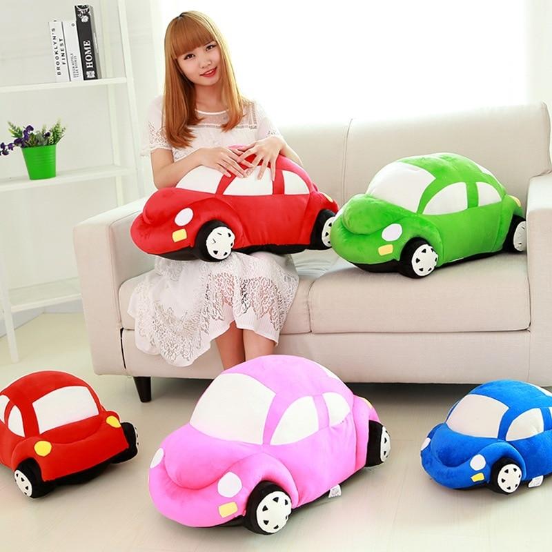 45cm Cute Car Model Plush Toys Dolls  Stuffed Toys Kids Birthday Gifts Green/Red/Pink/Blue
