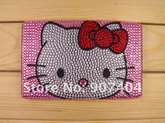 Us 190 Free Shipping Bling Rhinestone Pink Hello Kitty Crystal Skin Hard Cover Case For Amazon Kindle Fire 70 Wholesale On Aliexpresscom