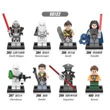 8pcs star wars Chewbacca Rowan Kordi Darth Malgus Snowtrooper building blocks model bricks toys for children juguetes