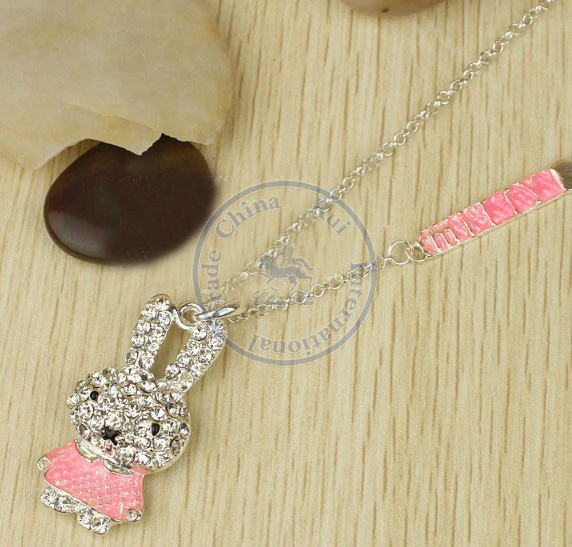 necklaces pendant Fashion jewelry popular for women long sweater chain cystal shiny animal design