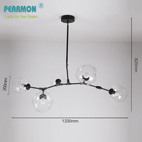 Branching Bubble Ceiling Lights Retro Loft Vintage LED Bulbs Glass Ceiling Lindsey Adelman Suspension Ceiling Lamp