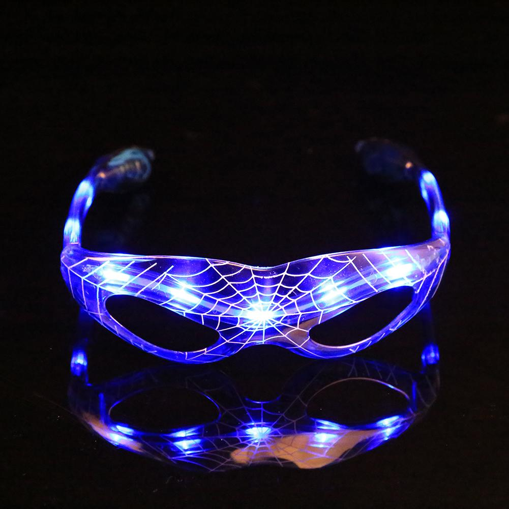 Gafas Glowing LED Spider-Man Festival Glasse Dance Party Supplies Decration navi