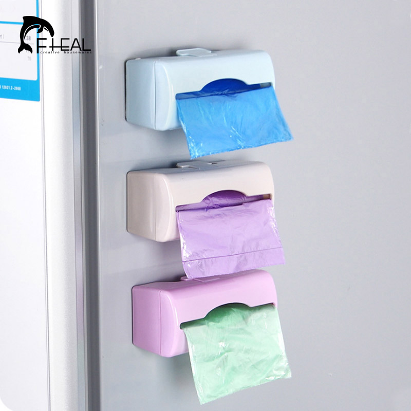 Fheal colorful wall mounted garbage bag storage box - Plastic bathroom storage containers ...