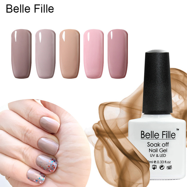 Belle Fille Naakt Roze Gel Polish Nail Art Kleur Jas Uv Gels Lak