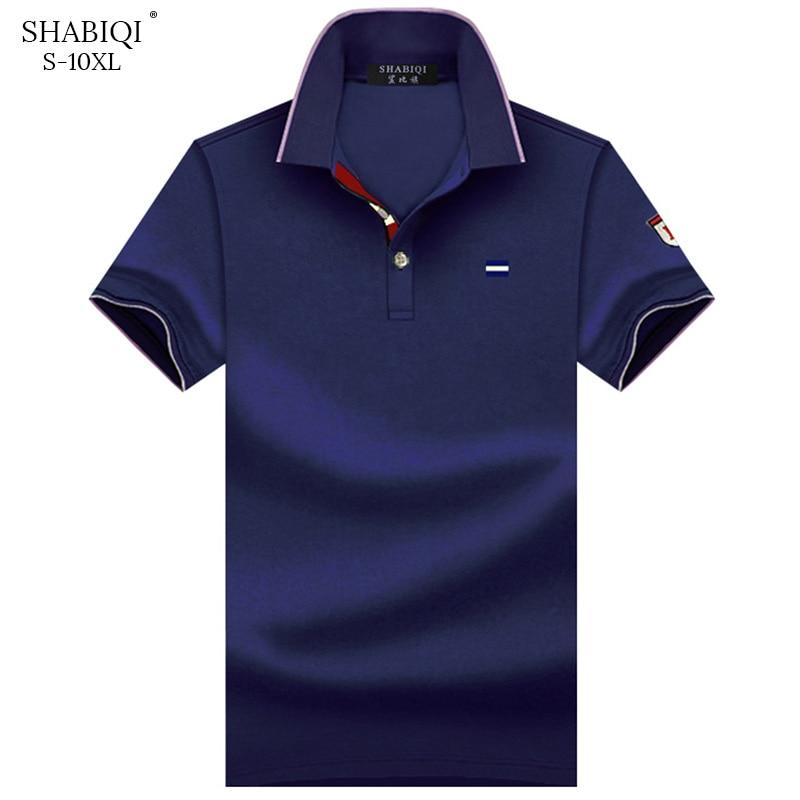 SHABIQI Men Clothes 2018 Brand Men shirt Men   Polo   Shirt Men Short Sleeve Embroidery   Polo   Shirt Plus Size 6XL 7XL 8XL 9XL 10XL