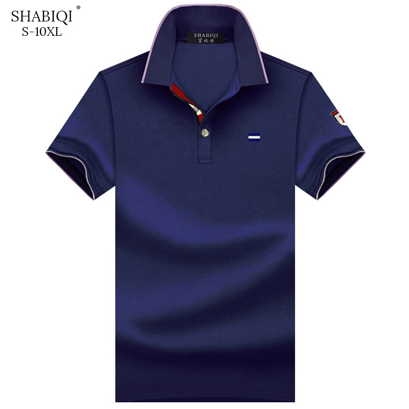 SHABIQI Men Clothes 2019 Brand Men Shirt Men Polo Shirt Men Short Sleeve Embroidery Polo Shirt  Plus Size 6XL 7XL 8XL 9XL 10XL