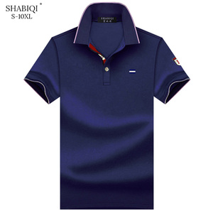 Summer 2020 Brand Polo Shirt Men Casual Short Sleeve Embroidery Polo Shirts for Men's Breathable Plus Size Cotton Polos 6XL-10XL(China)