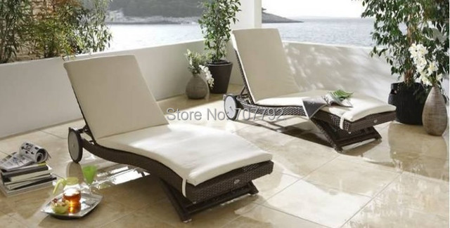 2017 Swimming Pool Outdoor Furniture Daybed Chaise Lounge Chairs