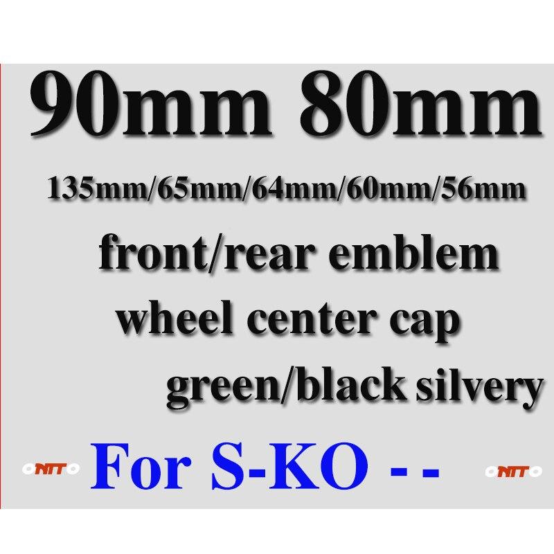 Car Styling Front rear Emblem 90mm 80mm wheel center cap 135mm 65mm 64mm 60mm 56mm green