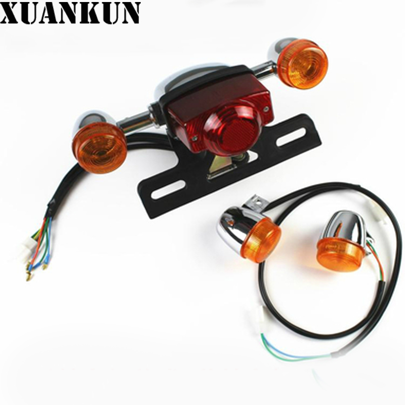 XUANKUN Electric Motorcycle Accessories Scooter Front Direction Steering Lamp Tail Lamp Lights and Turn Into xuankun motorcycle accessories lx650 left and right tail body