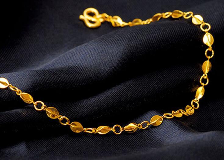 Moda puro solido 24 k oro giallo braccialetto/best farfalla carambola regolabile braccialetto 2.95g - 4