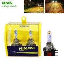 XENCN H15 12В 15В/55 W 2300K супер яркий желтый светильник автомобильные галогеновые лампы для фар для Audi VW Golf 30% более светильник 75 м луч лазера 2X