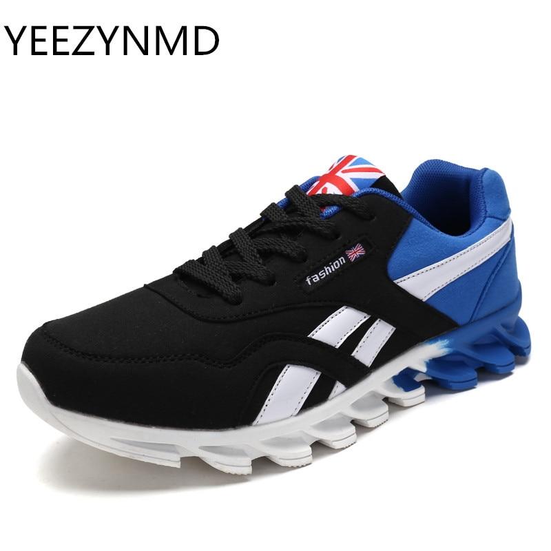 Для мужчин повседневная обувь Демисезонный дышащая Для мужчин обувь Zapatillas Hombre модные на шнуровке синий и красный цвета серый обувь masculino adulto