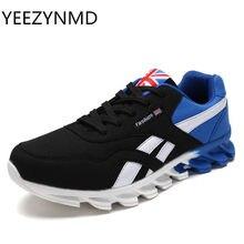 095ccc788 Для мужчин повседневная обувь Демисезонный дышащая Для мужчин обувь  Zapatillas Hombre модные на шнуровке синий и