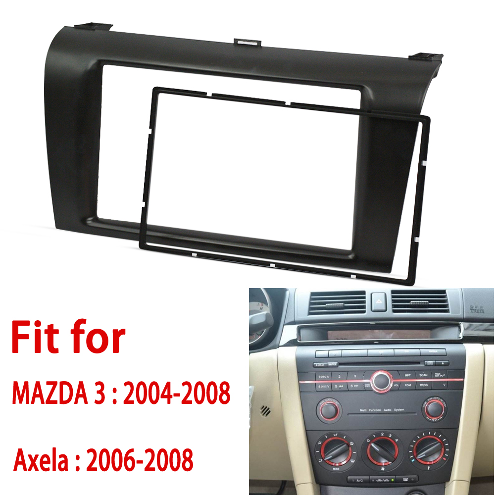 2 din Car Radio fascia for MAZDA (3) Axela Double Din Fascia Audio Fitting Adaptor Panel Car Stereo Radio Plate Panel Frame Kit
