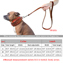 Cool Studded Genuine Leather Pet Collars Leash Set For Medium Large Dog Pitbull  S M L  Black Brown