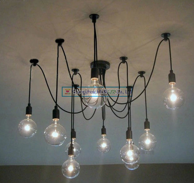SimpleStyle Edison Chandelier Light Pendant Lamp10 Lights (INCLUDED bulb & remote control) vintage clothing store personalized art chandelier chandelier edison the heavenly maids scatter blossoms tiny cages
