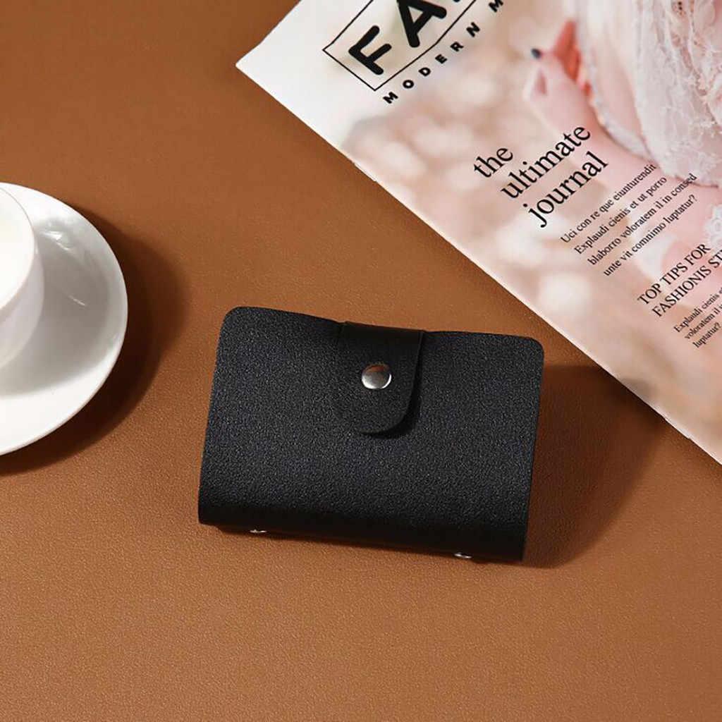 Для мужчин и женщин кожаный держатель для кредитных карт бумажник для визиток 12 бит Новое поступление короткие женские кошельки бумажник Женский кошелек на молнии