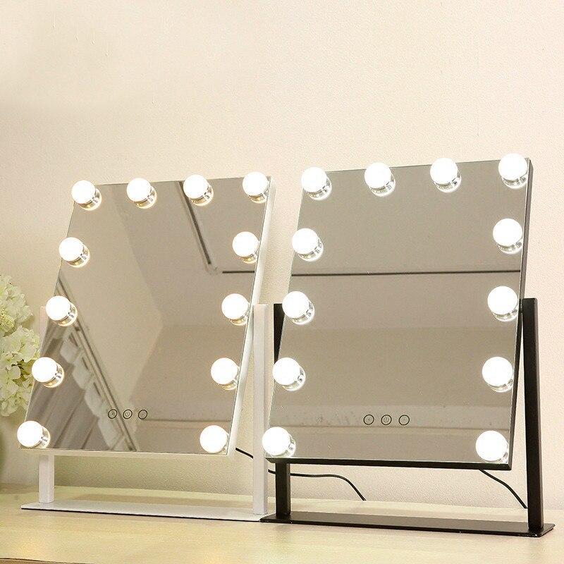 Led Makeup Mirror Girls White Desktop Large Vanity Mirror