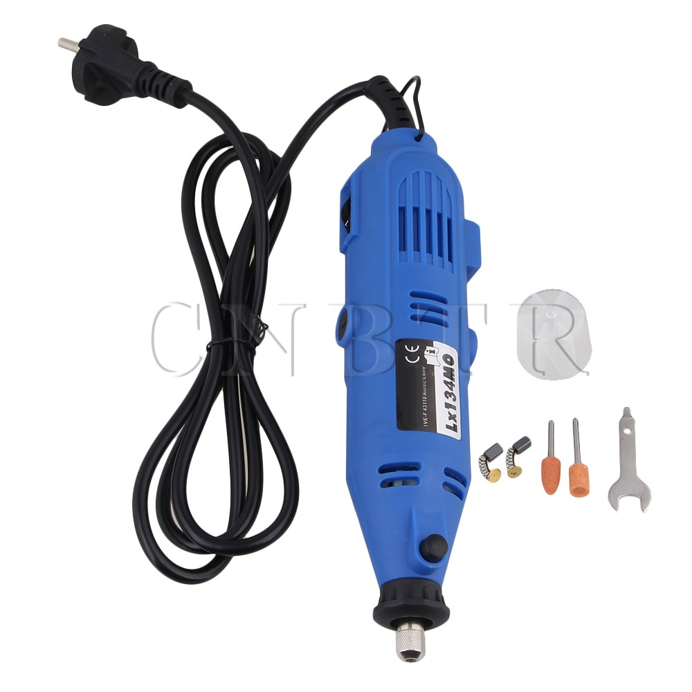 ФОТО CNBTR  Blue 220V Electric Rotary Power Tool Variable Speed Hand Drill Grinder