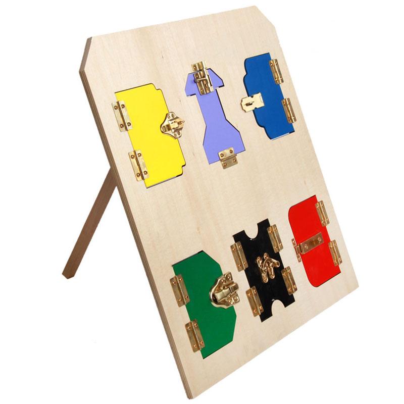 Jouets en bois Montessori pour enfants éducatifs Montessori serrure conseil exercices d'apprentissage précoce mathématiques jouet en bois UC0165H
