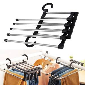 Hangers Closet-Organizer Pants Storage Cloth-Rack Multifunctional