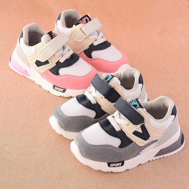 2018 Nuevos Niños Zapatillas Casual Verano Otoño Respirable Niñas - Zapatos de niños