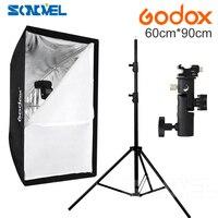 Godox Portable Softbox 60*90 60x90cm Umbrella Softbox Reflector+Flash bracket+Light Stand for Flash Speedlight