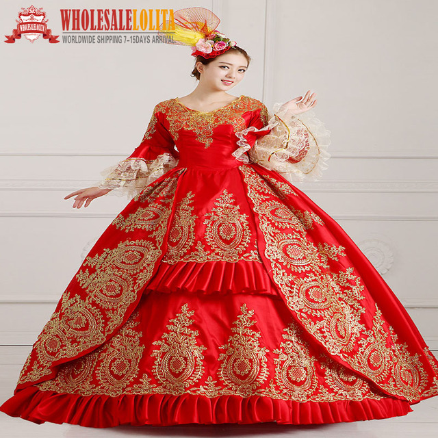 33b93d3f8f588 US $108.0 |HOT!! Global FreeShipping 18th Century Marie Antoinette  Victorian Period Renaissance Rococo Belle Dress-in Dresses from Women's  Clothing on ...