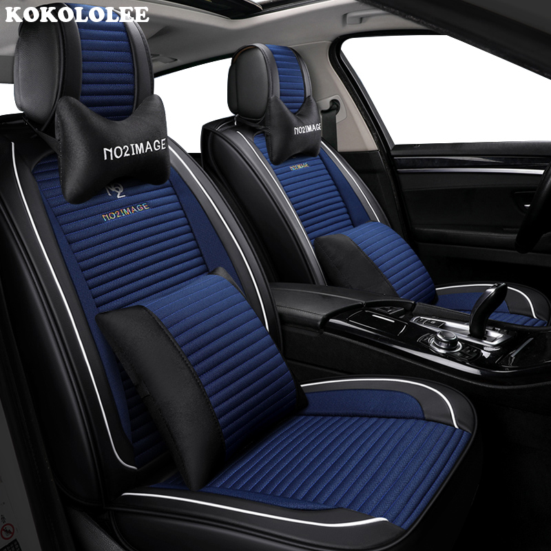 KOKOLOLEE Car Seat Cover Universal auto seats covers for peugeot 4008 405 406 407 408 5008 508 607 309 508 car accessories