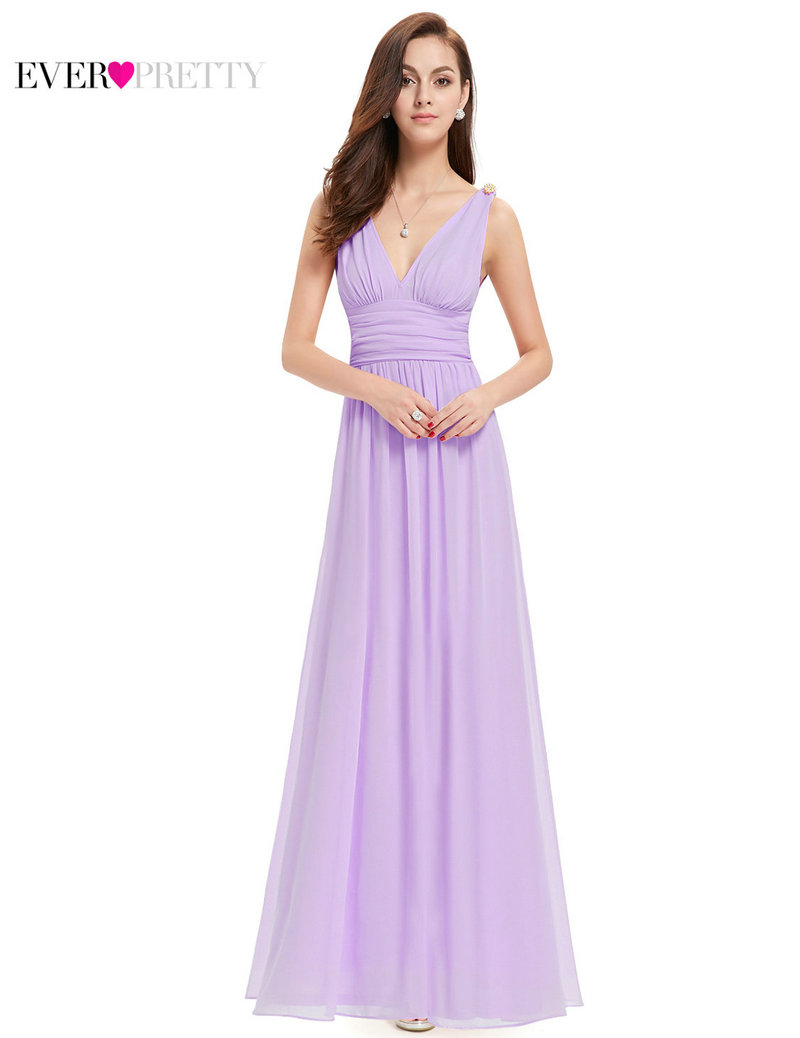 Bridesmaid Dresses Ever Pretty EP09016 Long Elegant New Arrival Empire Double V Neck Wedding Party In From