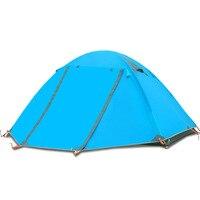 Double Layer Camping Tent Outdoor 2 person Double Tent Aluminum Pole Outdoor Windproof Rainproof Waterproof Tent