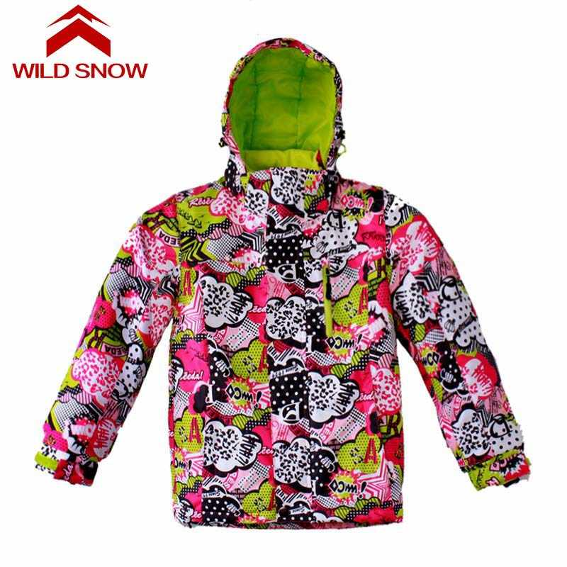 Лыжные комплекты для мальчиков и девочек, зимняя водонепроницаемая ветрозащитная детская Лыжная куртка, детские теплые костюмы с капюшоном, сноуборд-Спорт