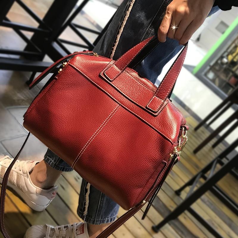 Famous Brand Real Genuine Leather Shoulder Bag Luxury Handbags Women Bags Designer Vintage Large Casual Tote
