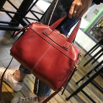 37d09ac7d44c Известный бренд из натуральной кожи сумка Роскошные сумки для женщин  дизайнер Винтаж большая повседневная сумка женская