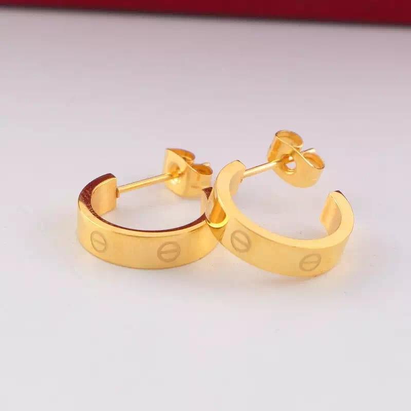 Brand Jewelry Brincos Rose Gold Titanium Steel Stud Earrings for Women Girls Crystal Earrings Oorbellen boucle
